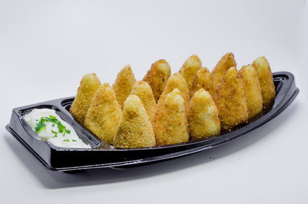 Brazilian snack. the coxinha is a brazilian salgadinho, of origin paulista, also common in