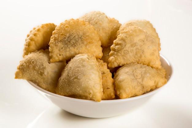 Brazilian snack. meat pastry.