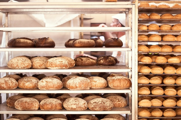 빵집에서 구운 빵