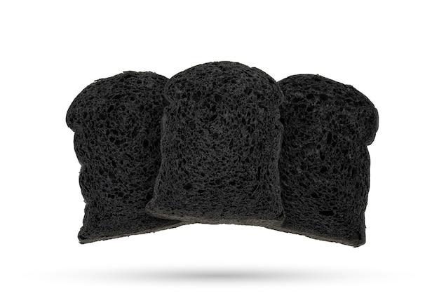 Уголь для хлеба на белом