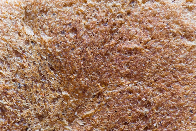 Bread crust extreme close up