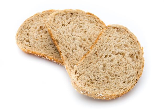 白い背景で隔離のパン。