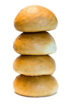白い背景で隔離のパン