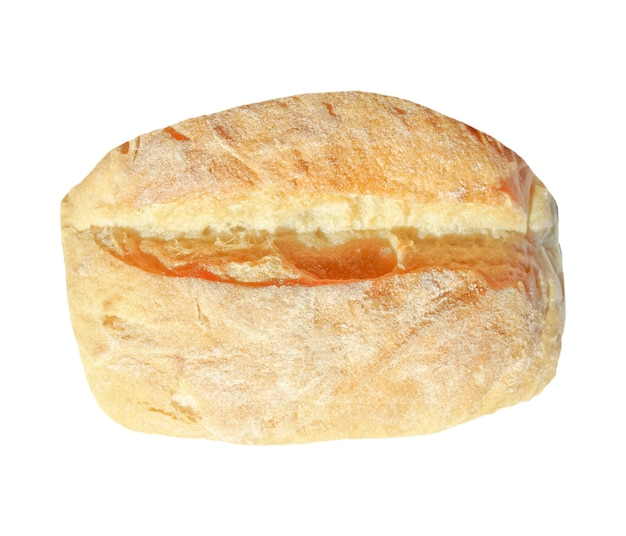 白の上に分離されたパン