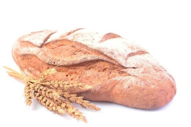 흰색 바탕에 빵