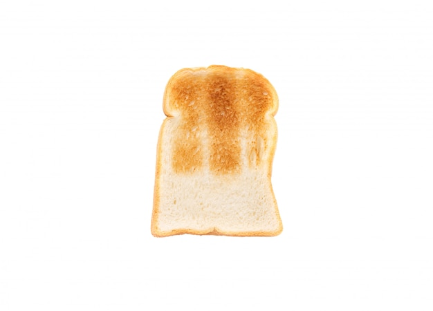 Bread toast on isolated white