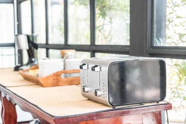 Bread toaster on table