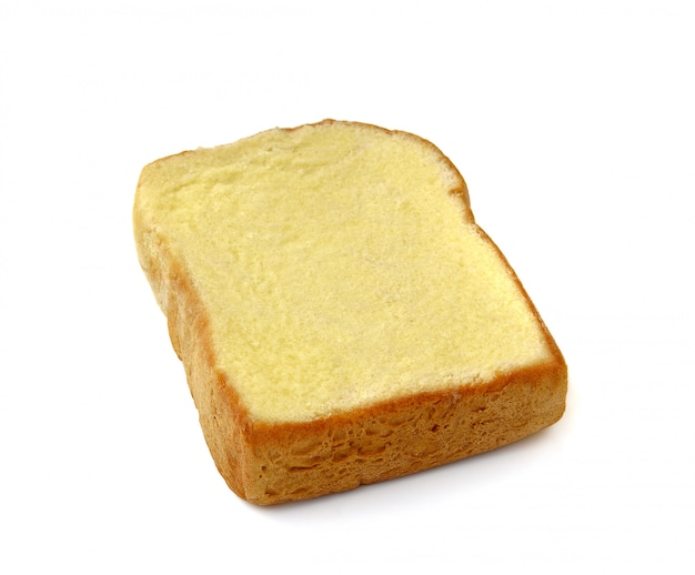 Bread with butter isolated