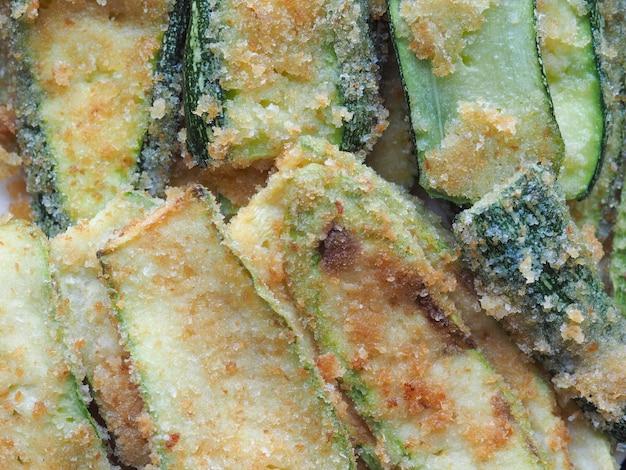 パンのズッキーニ野菜食品
