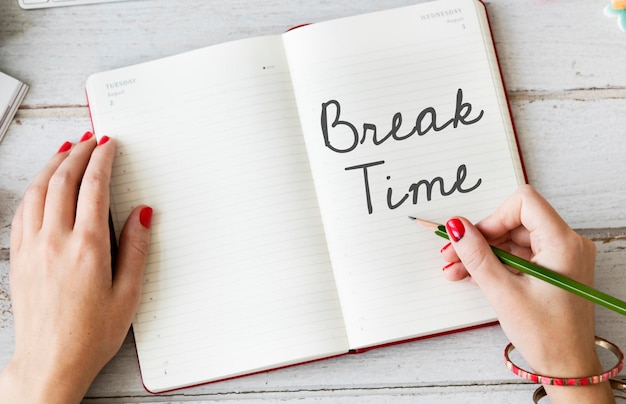 休憩時間リラクゼーション休憩停止は逃走の概念を緩めます