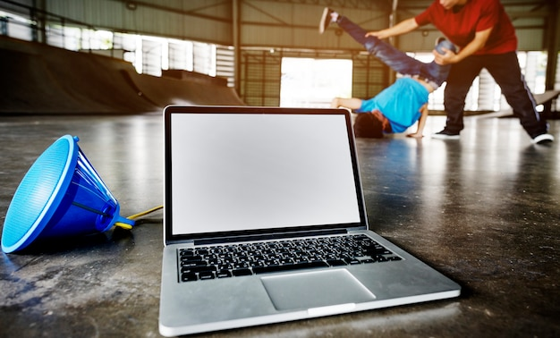 Breakdancing hip hop street culture sport activity concept