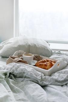 La colazione nel letto la mattina