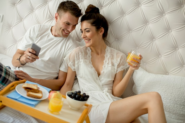 Breakfast in the bed