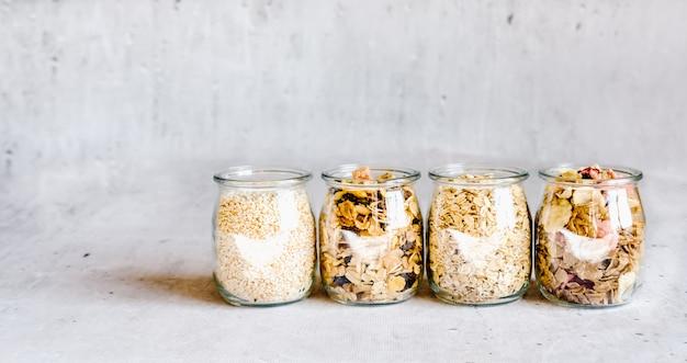 Breakfast cereal ingredients banner