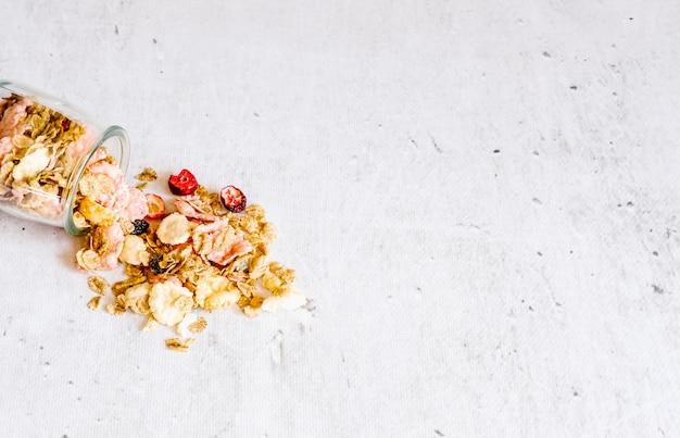 Breakfast cereal ingredients.