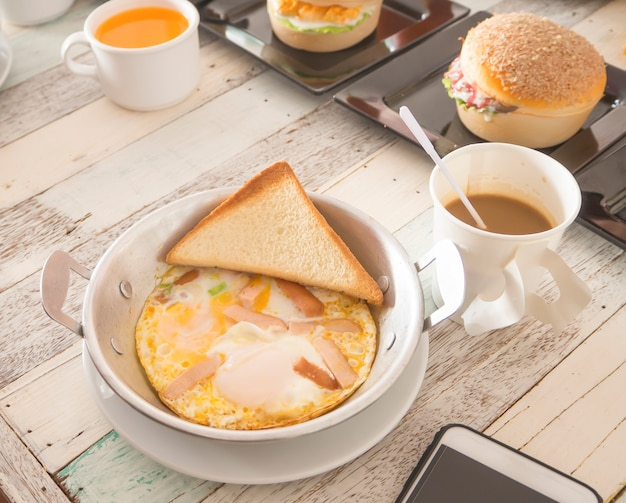 Breakfast food in thai style
