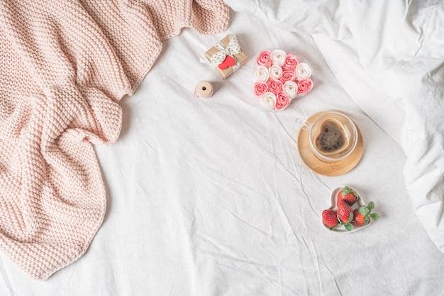 Завтрак на день святого валентина в постель
