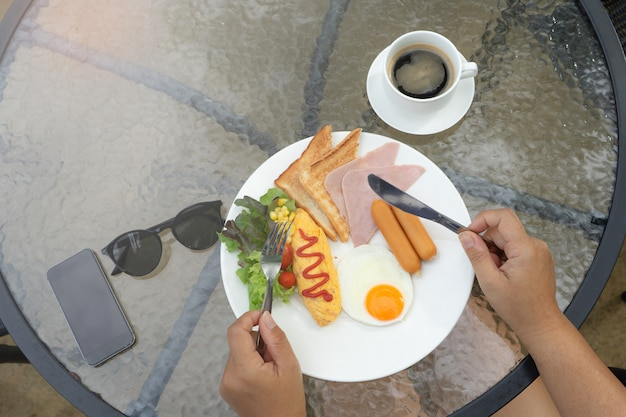 Breakfast plate.