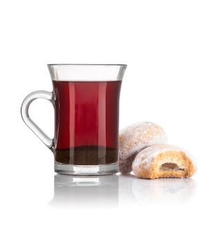 Breakfast tea with cookies