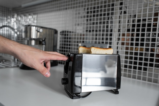 Breakfast toast. toast bread