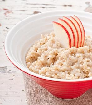 Breakfast - useful oatmeal with apples