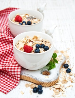 Breakfast with fresh berries
