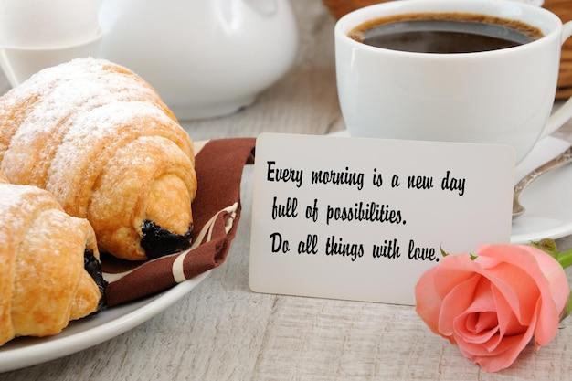 Завтрак с мотивационной цитатой