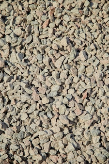 Breakstone background, a pile of crushed stone.