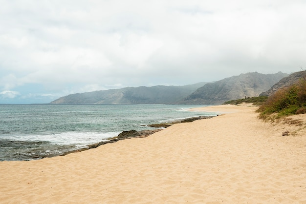 Breathtaking hawaii landscape with the beach