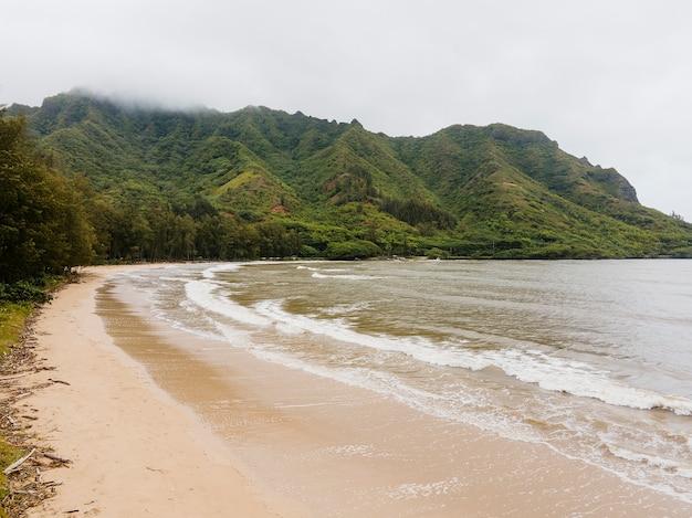 바다와 함께하는 숨막히는 하와이 풍경
