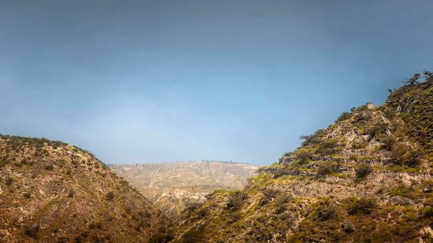 山のある息を呑むような風景