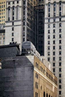미국 뉴욕 건물의 숨막히는 샷