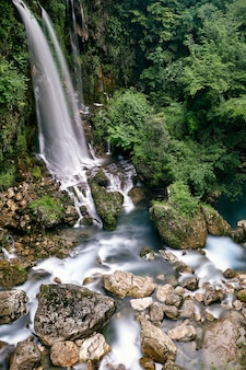 Breathtaking shot of the saut du loup waterfalls captured in france