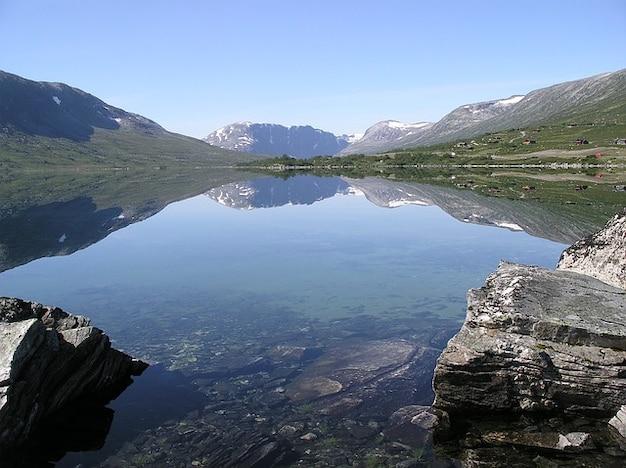 Норвегия озеро breiddalsvatnet