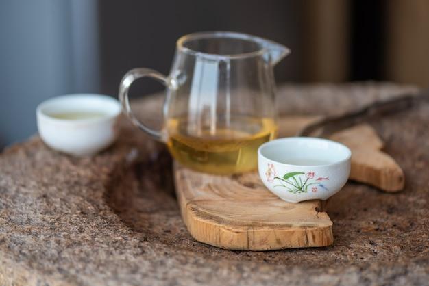 Процесс и аппарат заваривания китайского чая кунг-фу