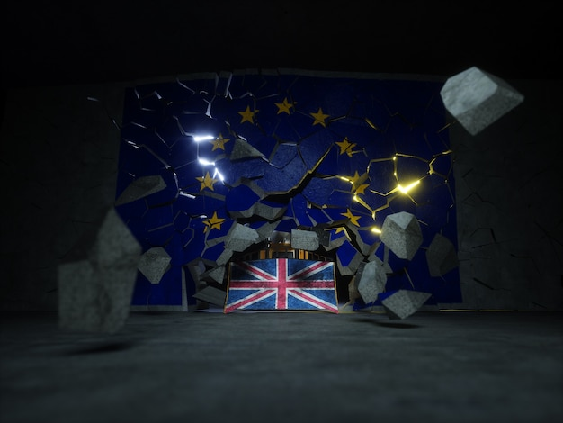 Brexituk国民投票投票コンセプト3dレンダリング