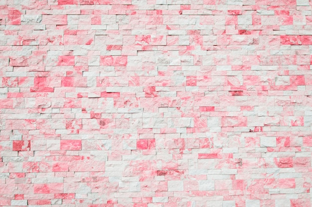 Brick background in pink and white