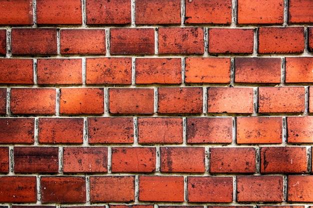 벽돌 배경, 붉은 벽돌 벽