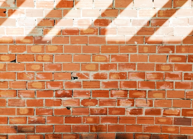 Brick background with shadows