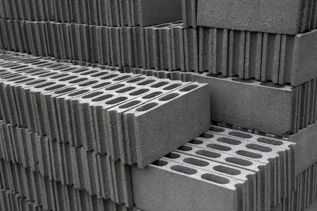 Brick cement blocks pile