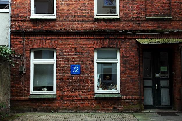 Кирпичный дом в гамбурге, германия