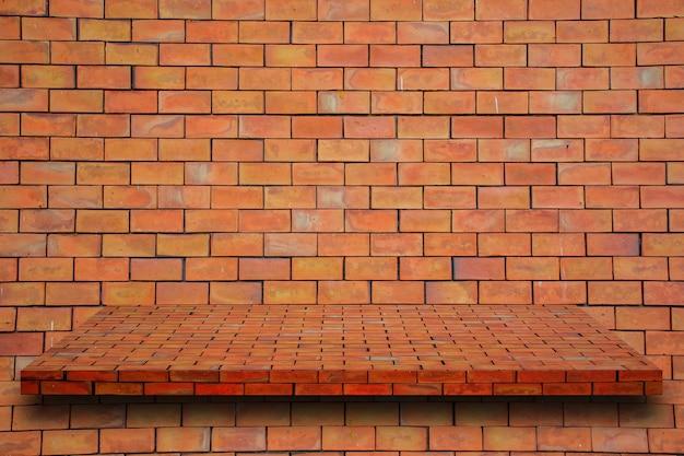 Brick and shelf
