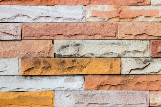 Brick and stone to creative texture and pattern