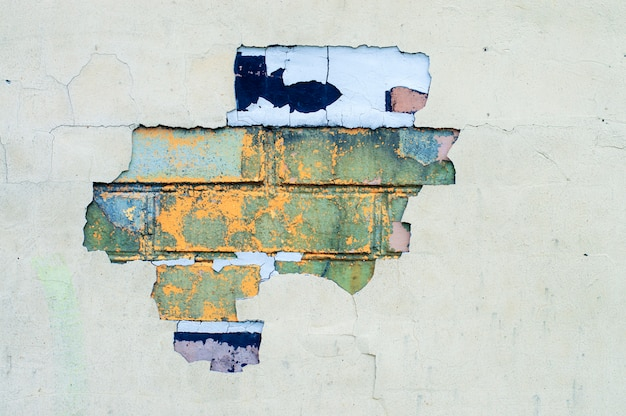 Brick texture with peeling paint