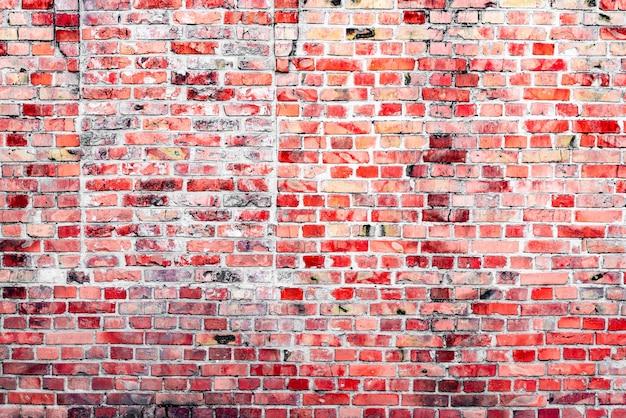 긁힘 및 균열이있는 벽돌 질감