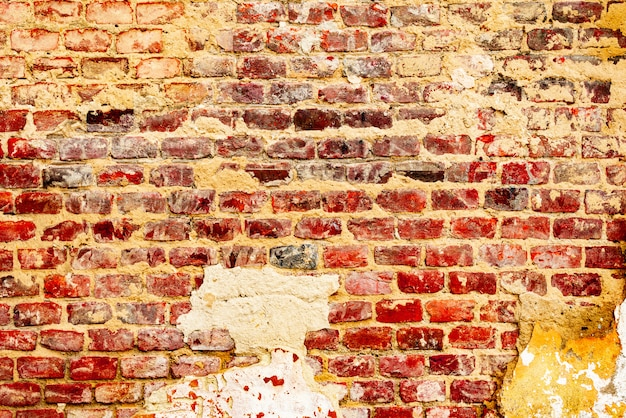 Brick texture with scratches and cracks background