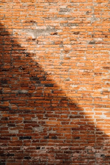 Brick wall background in light and shadow