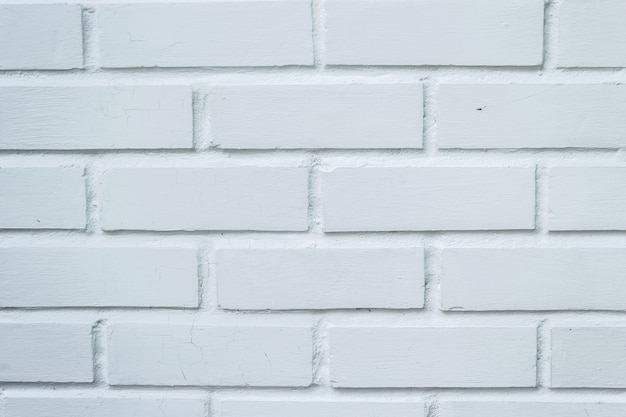 Brick wall clean white color vintage texture background.