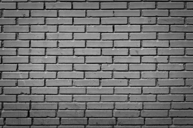 흑백 처리된 벽돌 벽