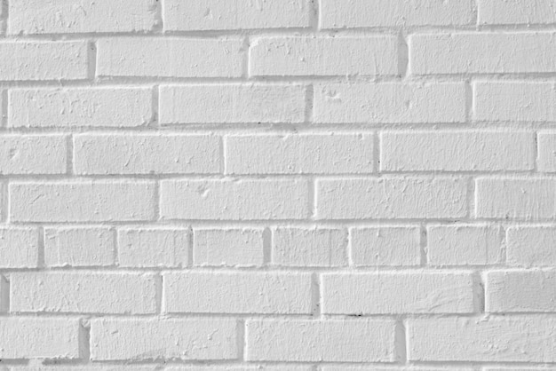The brick wall is painted white.